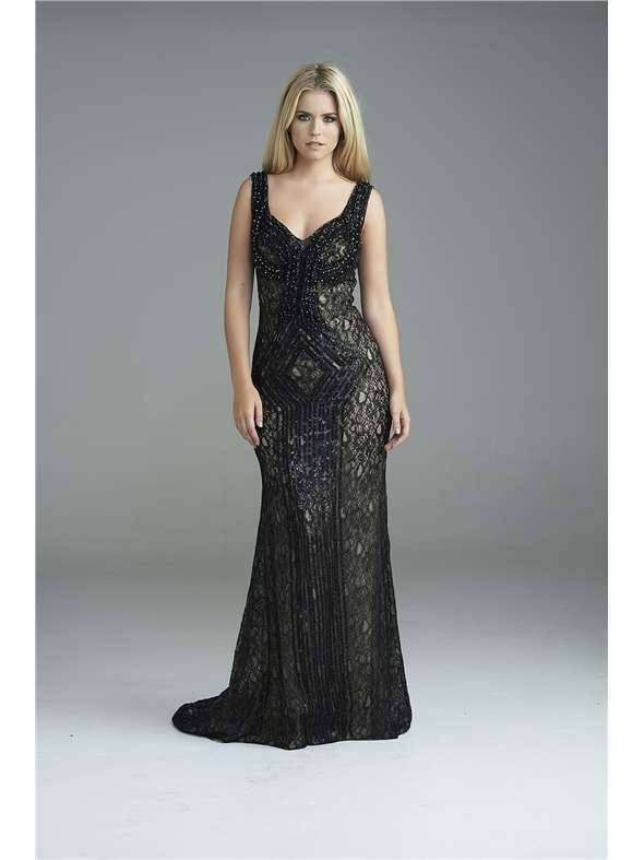 Black Fitted Prom Dress UK