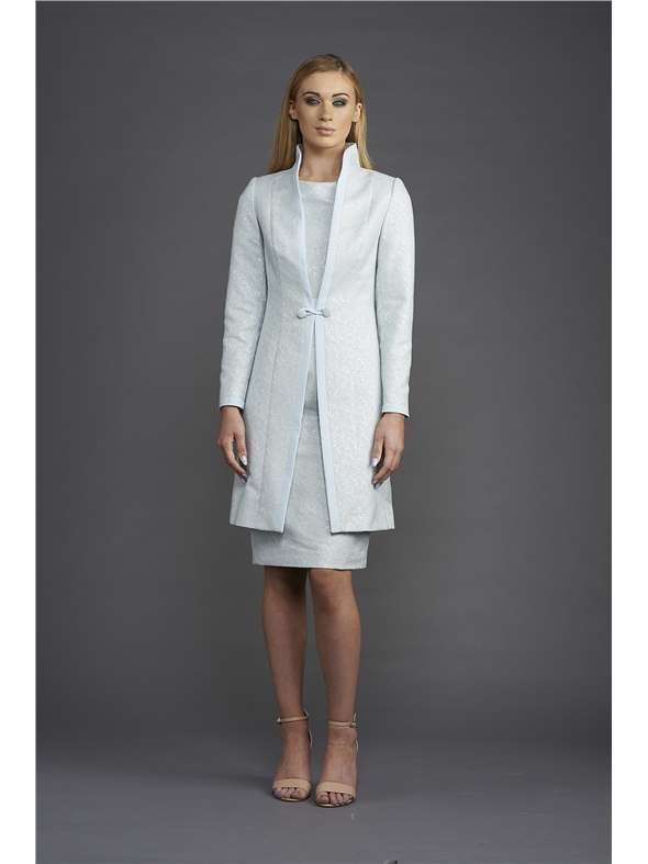 Anoola Pale Blue Coat And Dress | Blush Boutique