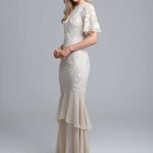 40b34dd454 Hope And Ivy Boho Beaded Wedding Gown