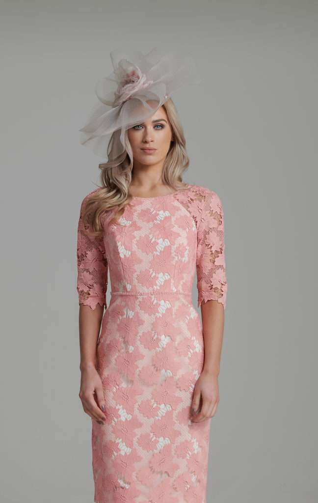 74a7dd2e38f5 John Charles 26437B Lace Embroidered Keyhole Dress | Blush Boutique